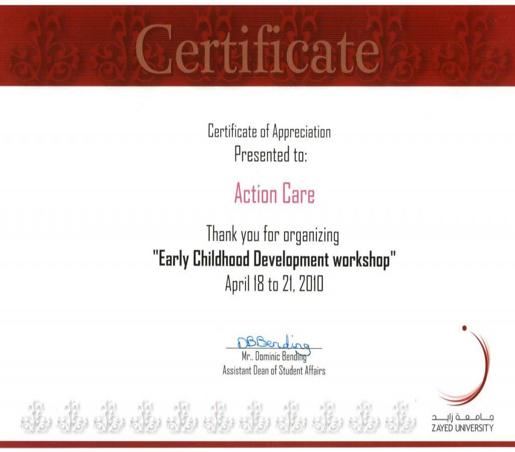 Actioncare references action care se certificate of appreciation zayed u ac april 2010 xflitez Gallery